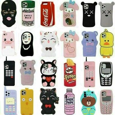 AU4.99 • Buy Cute 3D Cartoon Silicone Kids Case Cover For IPhone 6 7 8 Plus XR 11 Pro MAX XS