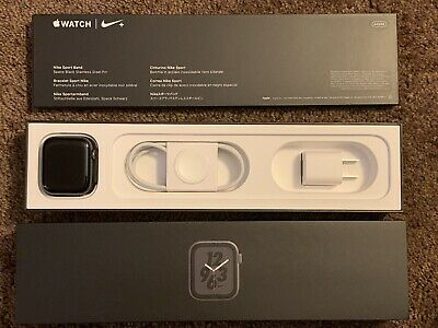 $ CDN267.25 • Buy Apple Watch Series 4 Nike+ 44mm GPS + Cellular LTE Space Gray Sport Band Boxed