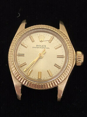 $ CDN2400.12 • Buy Genuine Rolex Ladies 14K Gold, Oyster Perpetual 6719, Head Only