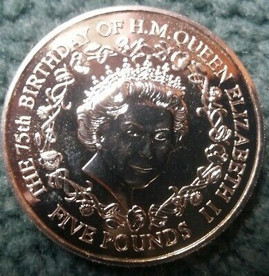 Guernsey 2001 Queen Elizabeth II 75th Birthday Five Pound £5  • 3.29£