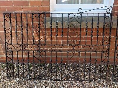 Wrought Iron Gates Metal Driveway Gates & Posts From 1930s House • 450£