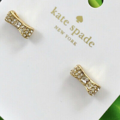 $ CDN28.09 • Buy Brand New Kate Spade NEw York Gold Tone Pave Crystals Bow Stud Earrings Jewelry
