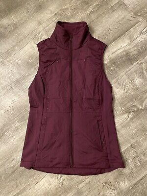 $ CDN65.34 • Buy Lululemon Down Run Vest Dark Red Maroon Black Cherry Sz 8
