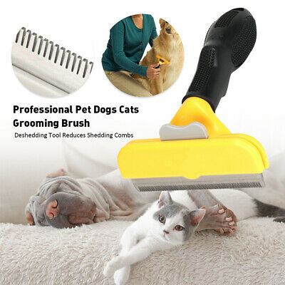 Pet Dog Cat Hair Fur Deshedding Shedding Grooming Trimmer Rake Comb Brush Tool • 8.66£