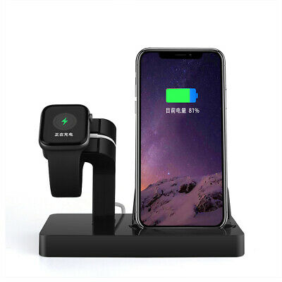 AU17.99 • Buy 2In1 Charger Station Stand For Apple Watch 6/5/4/3/2/1/SE IPhone XS X 11 8 7 6 5
