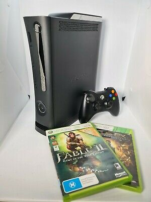 AU129.95 • Buy Microsoft Xbox 360 Elite Console Black 120GB HDMI 2 Games & Wireless Controller