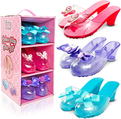 Little Fairy Princess Dress Up Shoes Set For Girls - Jelly Shoes For Kids Aged • 20.58£