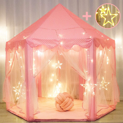 Princess Tent For Girls With Large Star Lights, Kids Play Tents Toys For Fairy • 47.96£