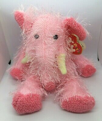 £8 • Buy Ty Punkies Collection - PIPSQEAK THE ELEPHANT - Retired2002 -With Ear Tag- Gc.