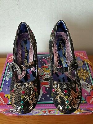 Womens Shoes Irregular Choice Buckle Down Pewter Size 40 UK 6.5 • 25£