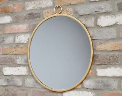 Large Gold Framed Metal Round Geometric Wall Mirror Modern Glass Decorative  • 35.95£