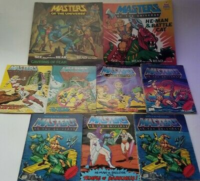 $74.95 • Buy Vintage Lot Of 9 Masters Of The Universe Mini Comics He-Man Skeletor USED