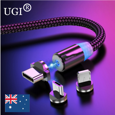 AU14.89 • Buy For IPhone X Samsung Fast Charging Magnetic Charger USB Cables Mobile Phone Cord