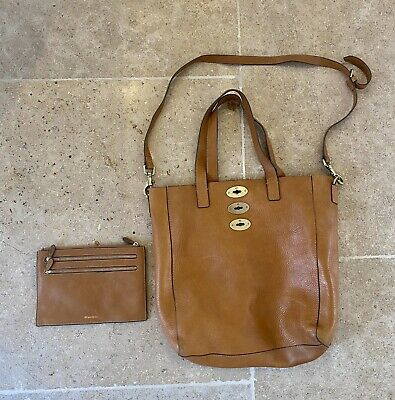 Tan Real Soft Leather Replication Bag And Matching Purse • 20£