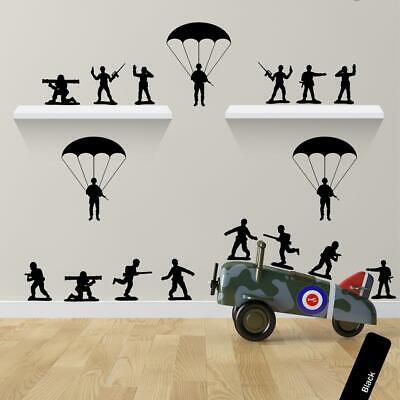 Small Army Soldier Vinyl Sticker Childrens Pack - Boys Bedroom Decor • 7.99£