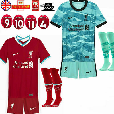20-21 Football Club Full Kit Kids Boys Youth Soccer Jersey Strip Training Suits • 13.89£