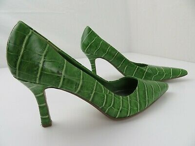 $17.99 • Buy Amanda Smith Rio 2 Green Reptile Leather High Heels Women's Shoes Size 8 M