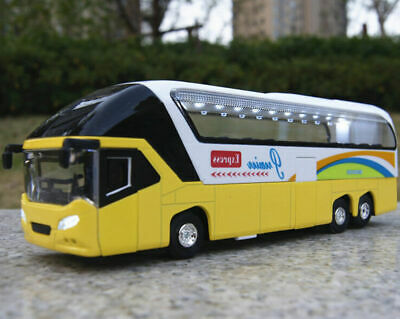 $ CDN32.04 • Buy 1/32 Double Decker Sightseeing Bus Yellow Diecast Car Model With Light And Sound