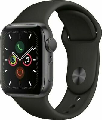 $ CDN237.28 • Buy Apple Watch Series 5 44mm Space Gray Case Black Band - GPS  (MWVF2LL/A)
