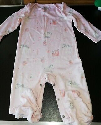 Baby Girl Blue Zoo Two Sleepsuits One Pink & One Blue 12-18 Mths BNWOT • 5£
