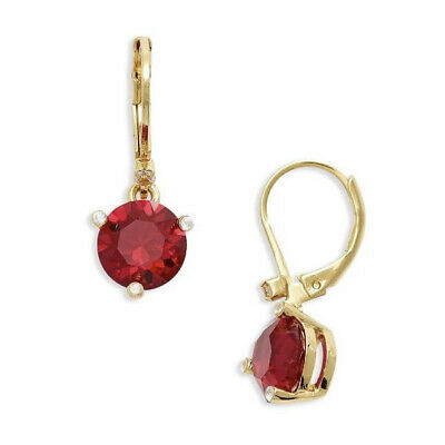 $ CDN32.94 • Buy Nwt Kate Spade Rise And Shine Small Round Lever Back Earrings $48 Ruby Red