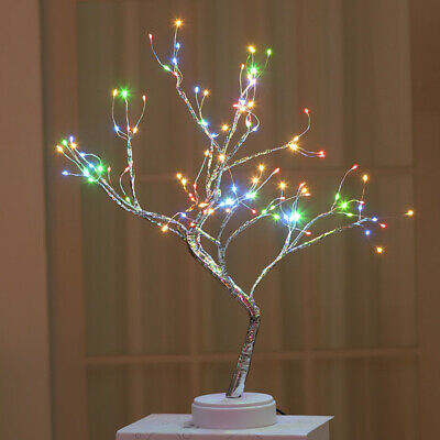 UK Pearl Firefly 36/108 LED Tree Table Lamp Novelty Light Home Party Decor Gifts • 15.91£