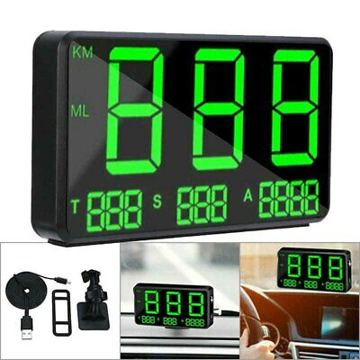 New Digital Gps Speedometer Hud Mph / Km/h Overspeed Warning For Car Motorcycle • 18.96£