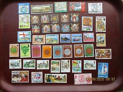 45  GUERNSEY STAMPS  (lot A) • 1£