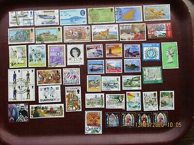 45  GUERNSEY STAMPS  (lot B) • 1£