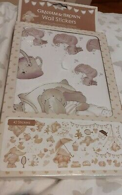 Graham & Brown Wall Stickers For Nursery, Child Bedroom, Cots Etc 42 Pcs. New • 4.50£