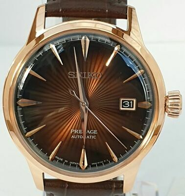 View Details Seiko Presage Cocktail New Men's Leather Automatic Watch Srpb46j1 Made In Japan • 319.00£