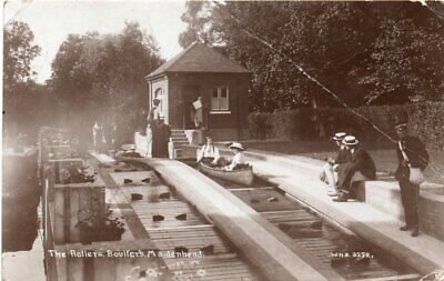 THE ROLLERS, BOULTERS. MAIDENHEAD  OLD REAL PHOTO POSTCARD Posted 1910 • 1.89£