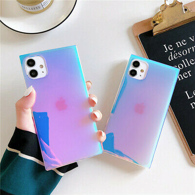 AU11.64 • Buy Square Glitter Purple Case For IPhone 12 11 Pro Max XS XR X 7 8+ Cute Back Cover