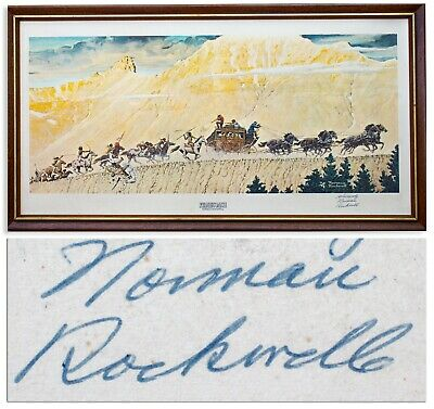 $ CDN2000.10 • Buy Norman Rockwell Signed Print Of Stagecoach