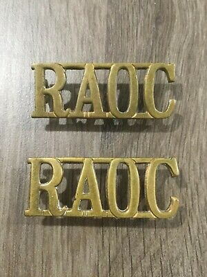 British Army R.a.o.c. Royal Army Ordnance Corps Pair Of Metal Shoulder Titles • 3.99£