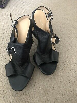 AU18 • Buy Nine West Sz 7.5 (Eu Sz 38) Chunky Black Heels