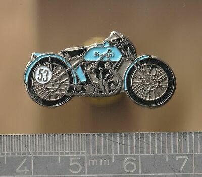 Motorcycle Pin Badge - Bianchi 350 Freccia Celeste • 3£