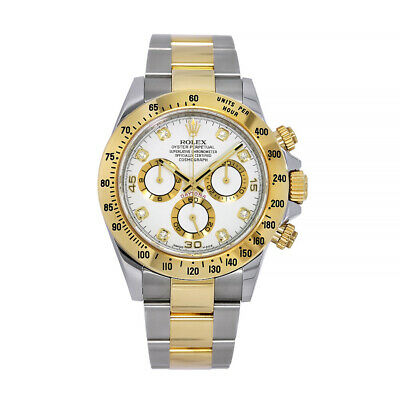 $ CDN21715.58 • Buy Rolex Cosmograph Daytona Stainless Steel And Gold Index White Dial Watch 116523