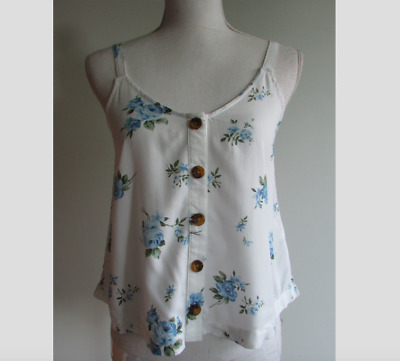 AU19.90 • Buy Hollister California White Floral Top, Size XS, BNWT