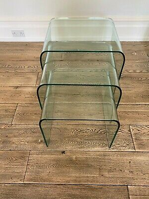 Marks And Spencer Nest Of Glass Tables (3) • 10£