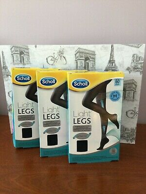3 X Scholl Light Legs Compression Tights. 60 Den, Black, Medium  • 3.99£