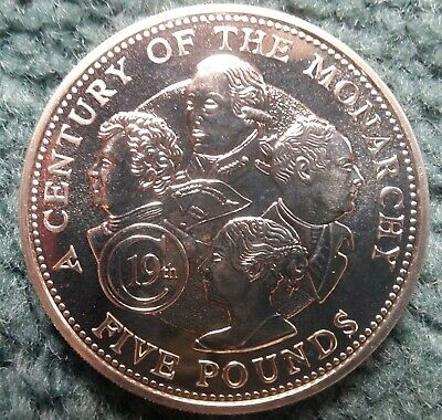 Guernsey 2001 Century Of The Monarchy Five Pound £5  • 1.75£