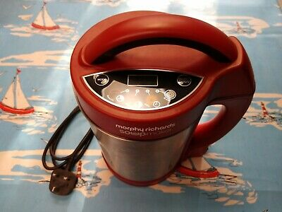 Morphy Richards Soup Maker 1.6l Red And Stainless Model 501018 • 8£