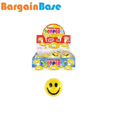 12Smiling Happy Smile Face Dome Poppers Party Bag Fillers Fete Fayre Prizes Toy  • 5.99£