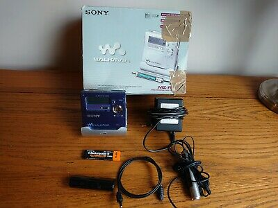 Sony MZ-R909 MD Med Walkman Portable MiniDisc Player Recorder Blue*VGC*Boxed • 11.50£