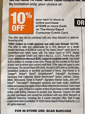 $10.55 • Buy Home Depot Coupon 10% Off