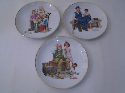$ CDN15.32 • Buy Vintage 1984 Lot Of 3 Norman Rockwell Museum Knowles 6-1/2  Collector Plates  B1
