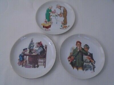 $ CDN7.32 • Buy Lot Of 3 Norman Rockwell Museum 6-1/2  Collector Plates  B5