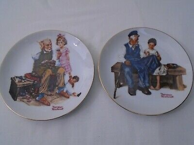 $ CDN9.99 • Buy Vintage 1982 Lot Of 2 Norman Rockwell Museum Knowles 6-1/2  Collector Plates  B4