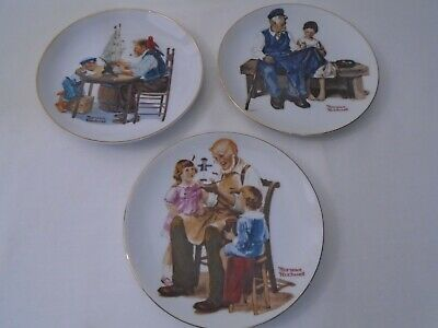 $ CDN15.32 • Buy Vintage 1982, 84 Lot Of 3 Norman Rockwell Museum 6-1/2  Collector Plates  B3